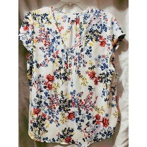 Liz Claiborne 2x Floral blouse